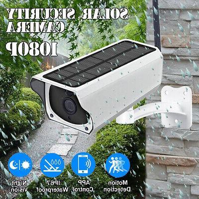 waterproof outdoor solar wireless wifi 1080p security