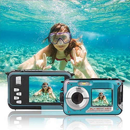 waterproof point shoot dual underwater