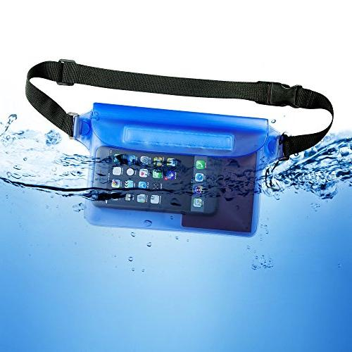 Waterproof Pouch with Strap to Keep and Dry Perfect Boating Kayaking Beach Pool