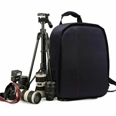 SLR Camera Bag Shockproof Waterproof Rucksack For Nikon-Canon