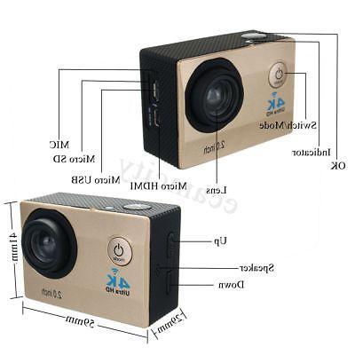 Waterproof HD 1080P Action Camera DV Control
