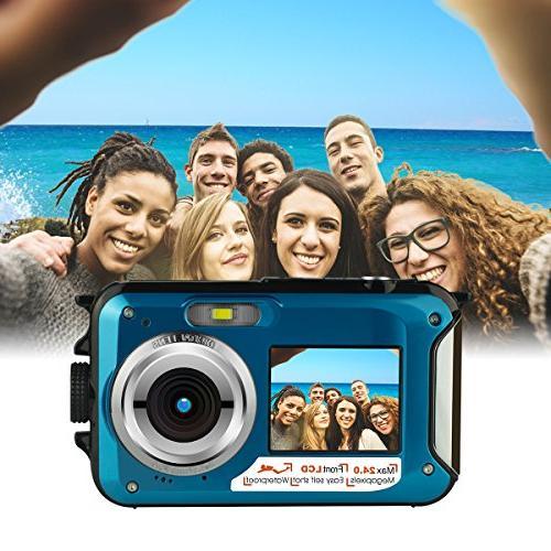Waterproof Cameras,Digital Waterproof Recorder Dual