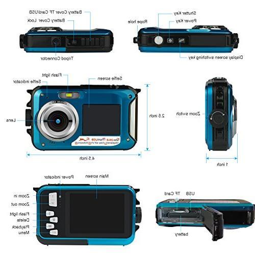 Cameras,Digital Waterproof Video Recorder Camcorder-Selfie