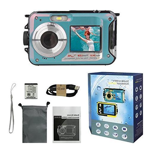 Waterproof Underwater Video Cameras,Digital Waterproof Recorder Camcorder-Selfie