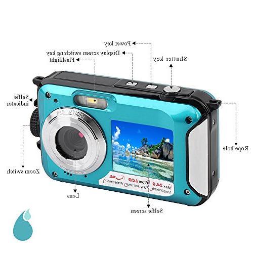 Waterproof Digital Full Underwater 24 MP Selfie
