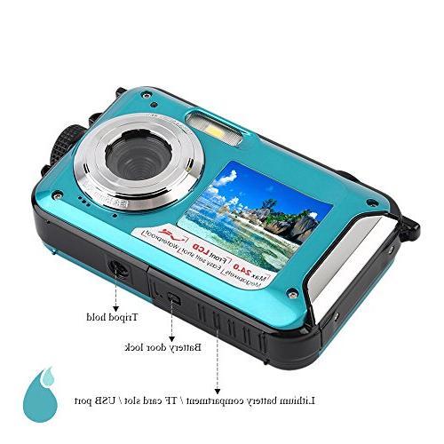 Waterproof Camera 24 Recorder Selfie Dual DV Recording