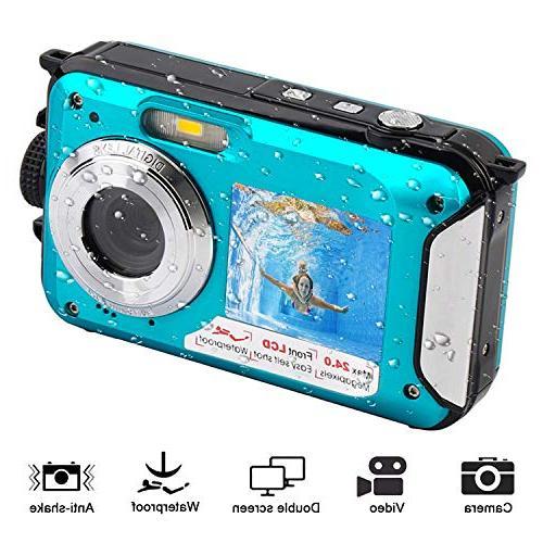 waterproof underwater recorder selfie dual