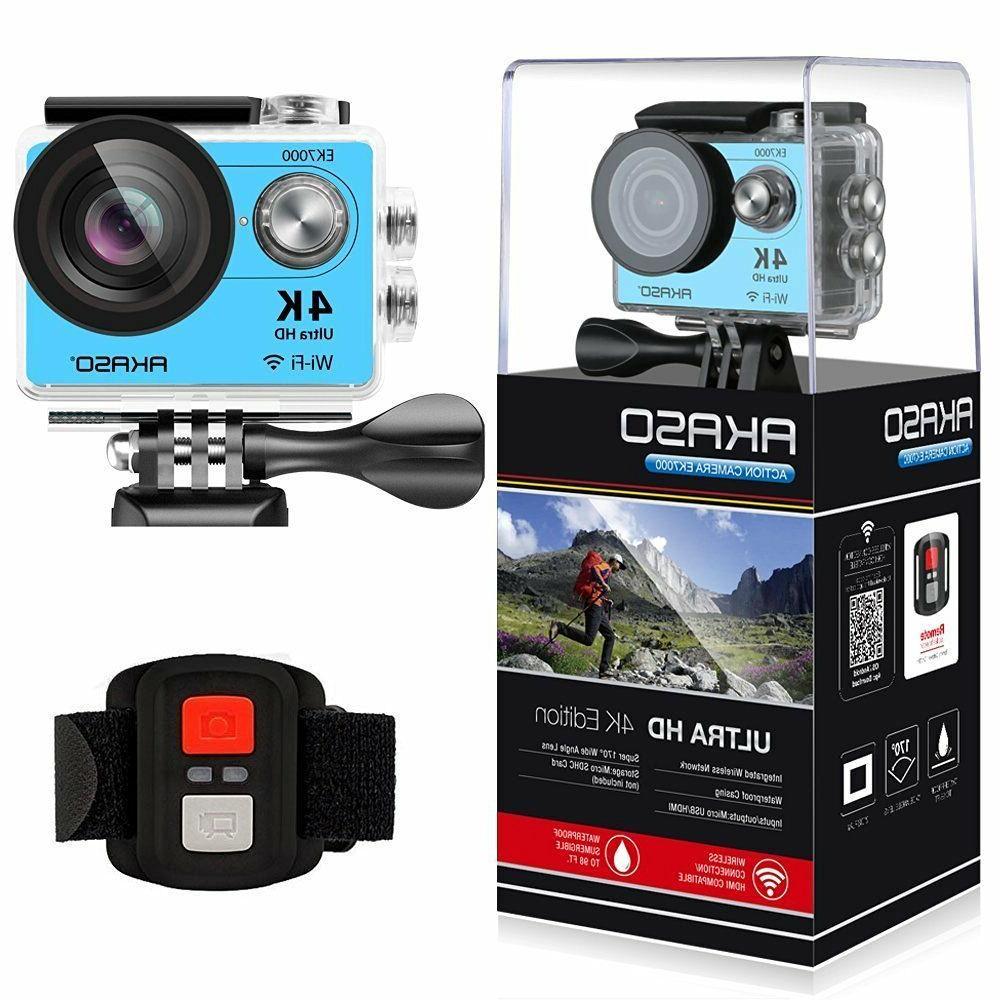 AKASO EK7000 Ultra HD 4K WIFI Sports Action Camera Waterproo