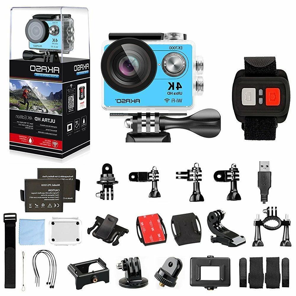 AKASO 4K WIFI Sports Action Camera HD 12MP