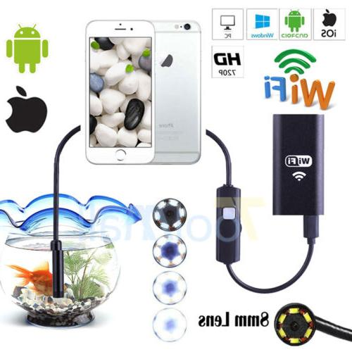 wifi endoscope waterproof borescope inspection camera usb