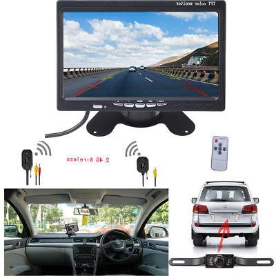 "Wireless Backup Camera and 7"" Monitor Kit for Car/Vehicle/Tr"
