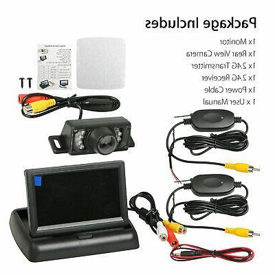Wireless Backup Monitor Kit Rear System Night Vision Waterproof