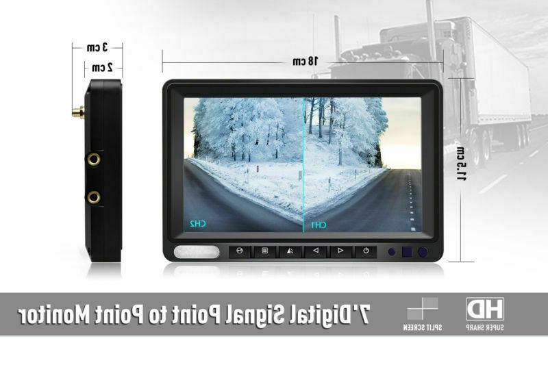 Wireless Waterproof Backup Camera Screen Monitor Truck