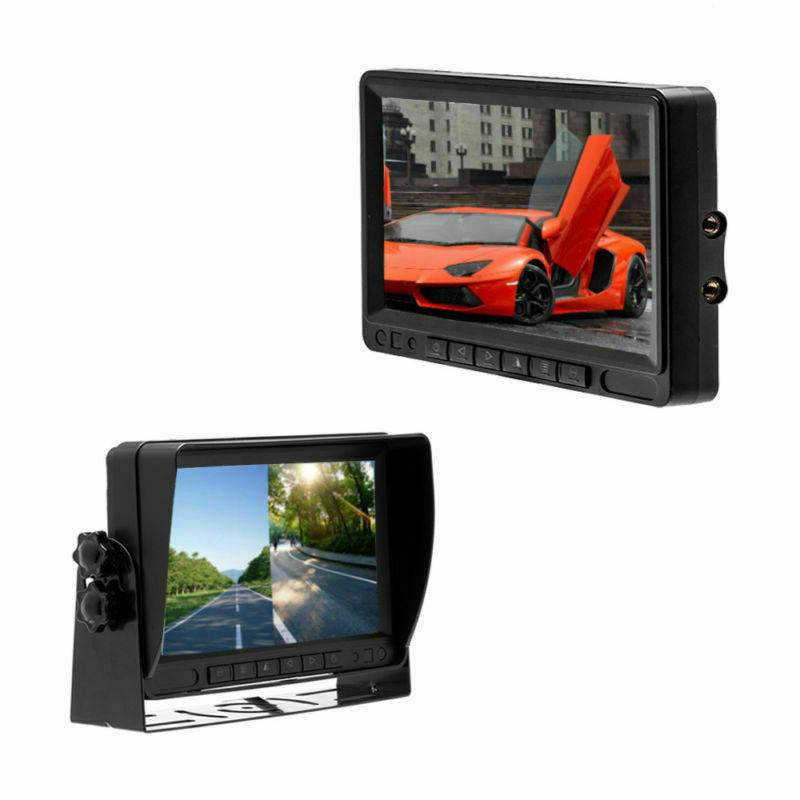 "Wireless Camera + 7"" Split Screen Monitor RV Truck"