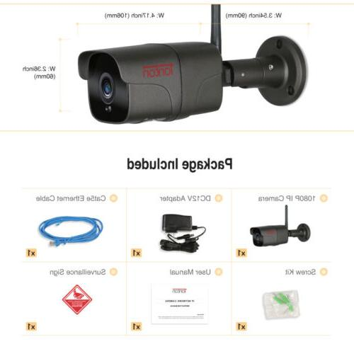 Tonton IP Camera Security Waterproof IR Night