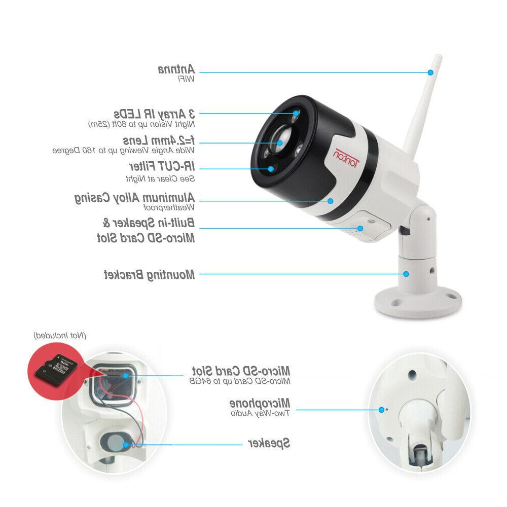 Tonton IP Camera Security Waterproof IR