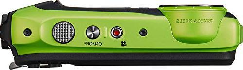 Fujifilm XP125 Waterproof Digital Camera, with Lime