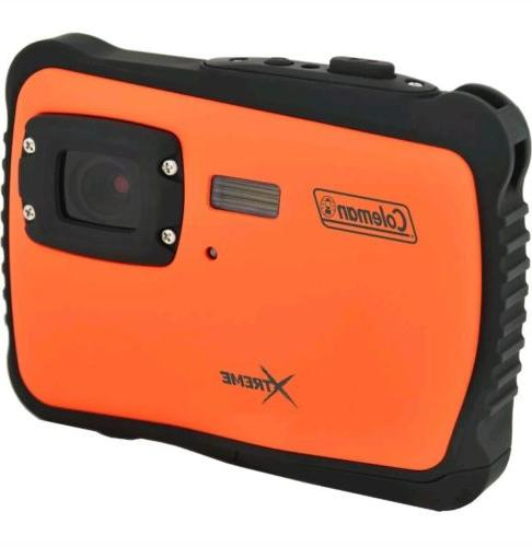 xtreme 12 mp waterproof digital camera orange