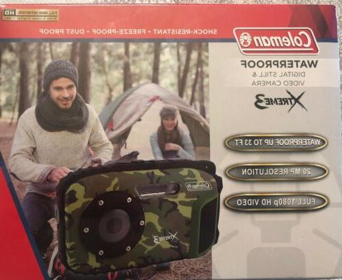Coleman Xtreme3 C9WP Waterproof and Dust-Proof Camera, Orange