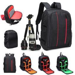 Large Waterproof DSLR Camera Backpack Bag Case For Canon Nik