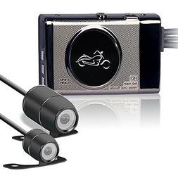 KKmoon 1080P Locomotive Motorcycle Driving Recorder Front an
