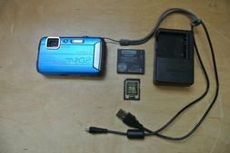 Panasonic LUMIX DMC-TS30 Blue Digital Camera Sealed Waterpro