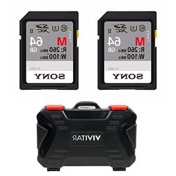 Sony 64GB M Series UHS-II SDXC Memory Card  2-Pack with Vers