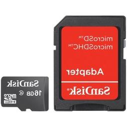 """SanDisk microSDHC 16GB with SD Adapter 3""""x5"""""""