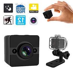YCTONG Spy Camera Mini Hidden Camera Waterproof Portable Mic