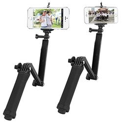 T.Face Multi Function 3 Way Grip Monopod for Phone With Clip