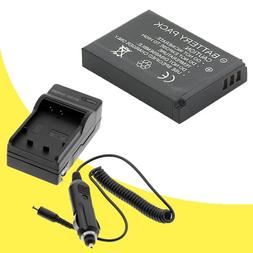 NB-6L Battery and Wall Charger with Car Charger Adapter for