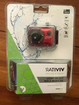 """New VIVITAR 1080p HD 12MP 2"""" Screen Camera Remote Mount Wate"""