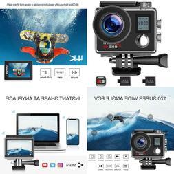 New Campark Action Camera 4K WIFI Ultra HD Sports Cam Underw