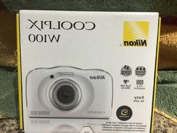 NEW!! Nikon Coolpix W100 Wi-Fi Shock & Waterproof Camera Whi