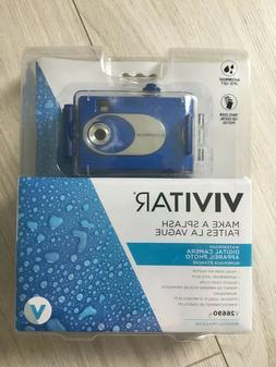 NEW  Vivitar Digital Camera Waterproof V26690 10feet Blue Pi