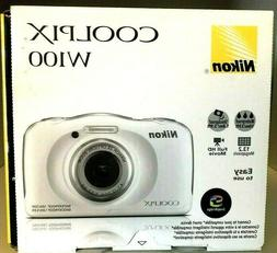 NEW in Box - Nikon Coolpix W100 13.2MP Waterproof Camera - W