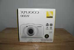 New White Nikon COOLPIX W100 13.2 MP Waterproof Shockproof D