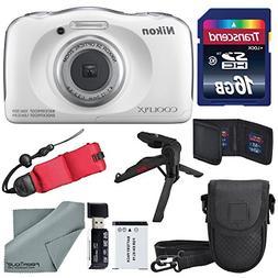Nikon COOLPIX W100 Digital Camera  Basic Bundle with Floatin