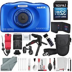 Nikon COOLPIX W100 Digital Camera  Deluxe Bundle with Xpix C