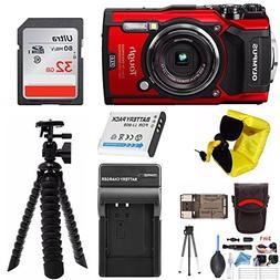 Olympus TG-5 Waterproof Digital Camera  w/ 32GB SD Card, Spa