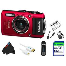 Olympus OLYTG4RD-32GB4PC Stylus 16 Waterproof Digital Camera