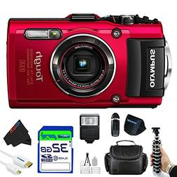 Olympus OLYTG4RDPBK Stylus 16 Waterproof Digital Camera with