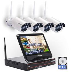 All in one with Monitor Wireless Security Camera System WiFi