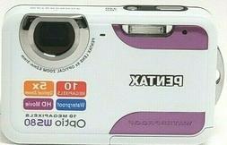 Pentax Optio WS80 Waterproof Camera 10MP HD Movie / White +