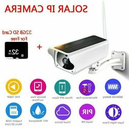 Solar Powered Wireless 1080P WiFi IP Camera IP67 Waterproof