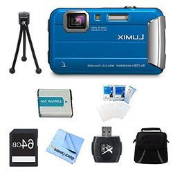 Panasonic LUMIX DMC-TS30 Active Tough Blue Digital Camera 64