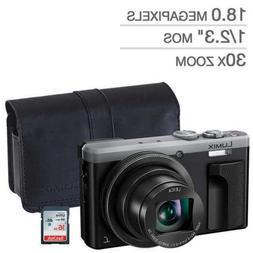 Panasonic LUMIX DMC-ZS60 Digital Camera Silver BUNDLE! PANAS