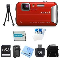 Panasonic LUMIX DMC-TS30 Active Tough Red Digital Camera 32G