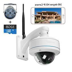 HD Panoramic IP Camera waterproof outdoor WIFI Camera 1080P