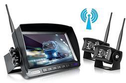 ZEROXCLUB Digital Wireless Backup Camera System Kit No Inter